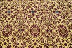 Thailändischer silk Holzschuhhintergrund Stockfotografie