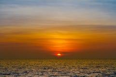 Thailändischer Sonnenuntergang Stockfoto