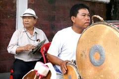Thailändischer Straßenmusiker Lizenzfreie Stockfotografie