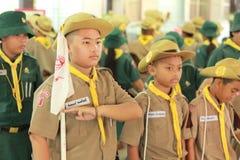 Thailändischer Student kundschaftet Lager Stockbilder