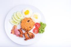 Thailändischer Teller, gebratener Reis des Amerikaners Stockfoto