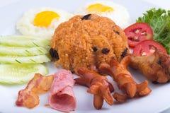 Thailändischer Teller, gebratener Reis des Amerikaners Stockbild