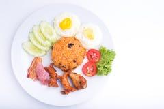 Thailändischer Teller, gebratener Reis des Amerikaners Lizenzfreies Stockbild