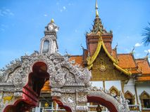 Thailändischer Tempel in Chiang Mai The-Pagode wird lokalisiert Stockbilder