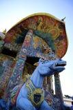 Thailändischer Tempel des waagerecht ausgerichteten Schusses in Thailand Stockbild
