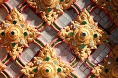 Thailändischer Tempel des waagerecht ausgerichteten Schusses in Thailand Lizenzfreie Stockfotografie