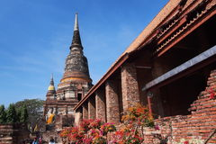 Thailändischer Tempel im ayuttaya stockfotos
