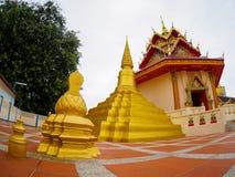 Thailändischer Tempel oder Wat Chaiyamangalaram Penang Malaysia Stockbild