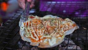 Thailändischer traditioneller knusperiger Garnelenpfannkuchen lizenzfreies stockbild