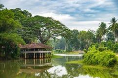 thailändischer Ufergegendpavillon Stockbild