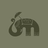 Thailändischer Vektor des glücklichen Elefanten Lizenzfreie Stockfotografie