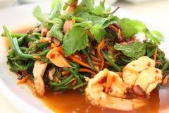 Thailändischer würziger Salat Stockbild