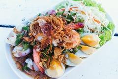 Thailändischer Wing Bean Salad Lizenzfreies Stockbild