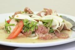 Thailändischer Yum Mooyor- und Schweinefleischsalat Lizenzfreie Stockfotos