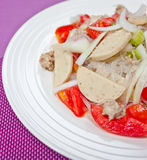 Thailändischer zurechtgemachter würziger Salat. Lizenzfreies Stockfoto