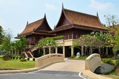 Thailändisches altes Haus Lizenzfreies Stockfoto
