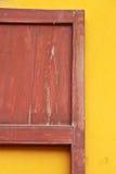 Thailändisches altes Türhaus. Stockfotografie