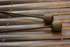 Thailändisches Altxylophonasien-Musikinstrument Lizenzfreies Stockfoto