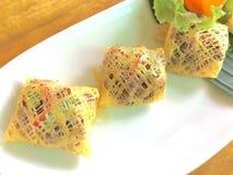 Thailändisches antikes Lebensmittel lizenzfreies stockbild
