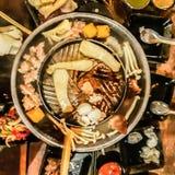 Thailändisches BBQ-Buffet mit Schweinefleisch lizenzfreies stockfoto