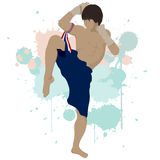 Thailändisches boxendes Muay thailändisches Stockbild