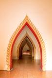 Thailändisches Dekorationsmuster und Innenarchitektur bei Wat Tham Sua am 26. Dezember in Kanchanaburi Lizenzfreie Stockfotografie