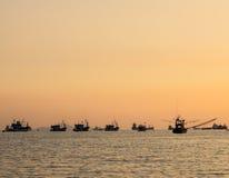 Thailändisches Fischerboot benutzt als a stockbild