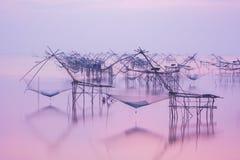 Thailändisches Fischereiinstrument 'Yor' Stockfoto