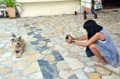 Thailändisches Fotografieschießen bei Wat Phra Thaen Dong Rang Worawihan Lizenzfreies Stockfoto