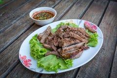 Thailändisches gegrilltes Rindfleisch Stockfotos