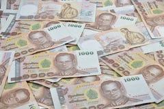 Thailändisches Geld 2015 auf weißem Hintergrund Stockbild