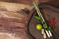 Thailändisches Gemüse für Tom-yum kung Lizenzfreies Stockbild