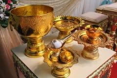 Thailändisches Hochzeitszubehör Stockbild