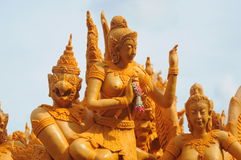 Thailändisches Kerzenfestival. bei Thailand Stockbild