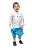 Thailändisches Kostüm des kleinen Jungen lizenzfreies stockfoto