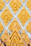 Thailändisches Kunstrahmengold Stockbild