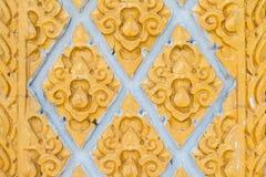 Thailändisches Kunstrahmengold Stockfotos