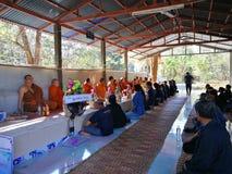 Thailändisches ländliches traditionelles des Begräbnisses stockbild
