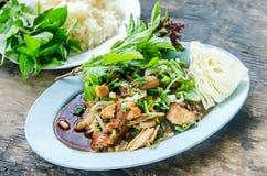 Thailändisches Laolebensmittel Stockfotos