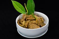 Thailändisches Lebensmittel Fried Pork Slice Pepper Sauce Lizenzfreie Stockfotos