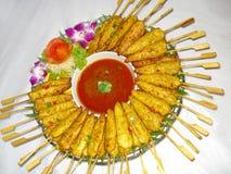 Thailändisches Lebensmittel, gai sa tay Lizenzfreie Stockfotografie