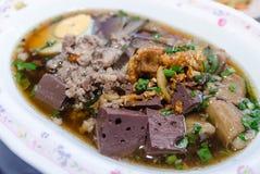 Thailändisches Lebensmittel ist Name Paste des Reismehls lizenzfreie stockfotografie