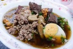Thailändisches Lebensmittel ist Name Paste des Reismehls lizenzfreies stockfoto