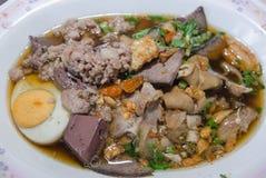 Thailändisches Lebensmittel ist Name Paste des Reismehls stockfotografie