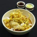 Thailändisches Lebensmittel, khao soi kai Stockfoto