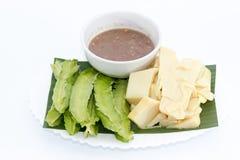 Thailändisches Lebensmittel, Paprikapaste, Gemüse Stockfotografie