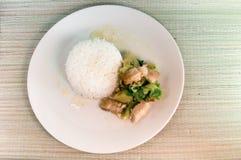 Thailändisches Lebensmittel, Rosenkohl gebraten Lizenzfreie Stockbilder