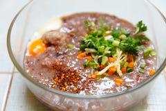 Thailändisches Lebensmittel, Thailand-Name - à ¹ 'à¸ˆà ¹ ‰ ภ Lizenzfreie Stockfotos