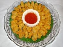 Thailändisches Lebensmittel, tod mun goong Stockbilder