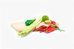 Thailändisches Lebensmittel Tomyam lokalisiert stockfoto